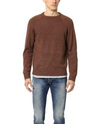 Obey Brown Check Point Sweater for men