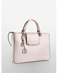 Calvin Klein - Pink White Label Valerie Triple Compartment Tote - Lyst