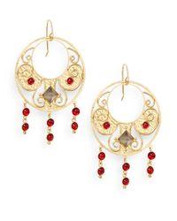 Stephanie Kantis | Antiquity Red Crystal & Smoky Topaz Drop Earrings | Lyst