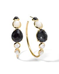Ippolita - Metallic 18k Rock Candy #3 Gelato Hoop Earrings In Piazza Di Spagna - Lyst