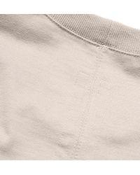 Rick Owens Natural Oversized Short-sleeved Cotton Sweatshirt for men