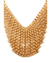 Forever 21 - Metallic Box Chain Bib Necklace - Lyst