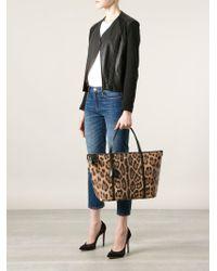 Dolce & Gabbana Brown 'Escape East/West' Shopper Tote