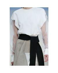 Marni Gray Cotton Belt