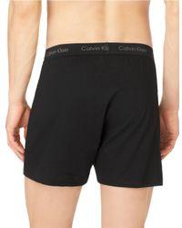 Calvin Klein Black Cotton Classic 3 Pack Knit Boxer for men