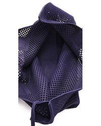 Pedro Garcia Blue Perforated Tote - Black