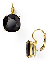 kate spade new york - Black Small Square Leverback Earrings - Lyst