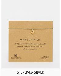 Dogeared - Metallic Gold Plated You Rock 3d Diamond Make A Wish Bracelet - Lyst