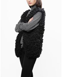 Wool And The Gang | Black Plush Polly Vest | Lyst
