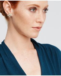 Ann Taylor | Metallic Scattered Stone Cluster Stud Earrings | Lyst
