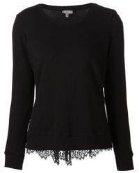 CLU Black Lace Back Sweater