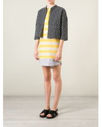 Band of Outsiders - Black Polka Dot Cropped Jacket - Lyst