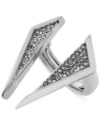 Vince Camuto | Metallic Crystal Triangle Open Center Ring | Lyst
