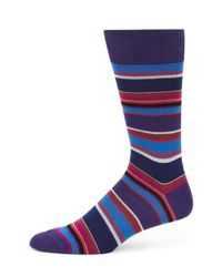Paul Smith | Blue Albermarle Multi-striped Socks for Men | Lyst
