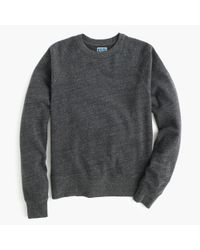 J.Crew | Gray Slim Brushed Fleece Sweatshirt for Men | Lyst