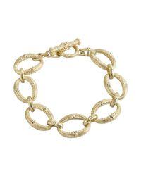 Judith Ripka - Metallic Gold And White Sapphire 'calypso' Link Bracelet - Lyst