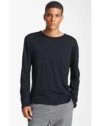 T By Alexander Wang | Black Long Sleeve T-shirt for Men | Lyst