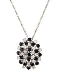 Roberto Coin | Metallic 18k Fantasia Sapphire & Diamond Necklace | Lyst