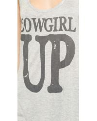 Haute Hippie Gray Cowgirl Up Tank - Light Heather Grey/coal
