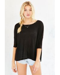 Project Social T | Black Washed-away Dolman Top | Lyst