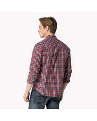 Tommy Hilfiger - Red Cotton Poplin Shirt for Men - Lyst