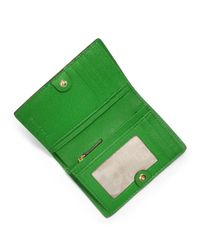 MICHAEL Michael Kors - Green Medium Jet Set Travel Slim Wallet - Lyst