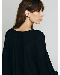 Free People - Black Lace Up Extreme Sleeve Top - Lyst