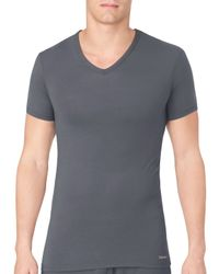 Calvin Klein Gray V-neck Tee for men