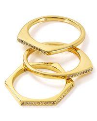 Gorjana - Metallic Mila Shimmer Rings, Set Of 3 - Lyst