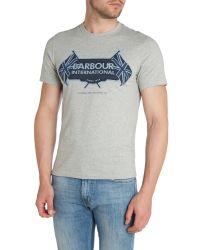 Barbour | Gray T-shirt for Men | Lyst
