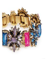 Erickson Beamon - Gray 'velvet Underground' Floral Crystal Bracelet - Lyst