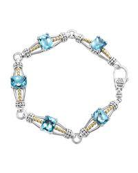Lagos | Metallic Blue Topaz Prism Caviar Bracelet | Lyst