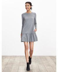 Banana Republic | Gray Drop-waist Ponte Dress | Lyst