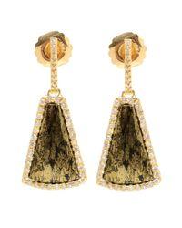 Kimberly Mcdonald | Metallic 18kt Yellow Apache Gold And Diamond Earrings | Lyst