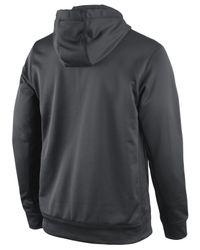 Nike Gray Men'S Oakland Raiders Platinum Ko Hoodie for men