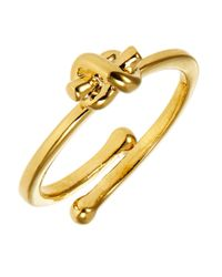 kate spade new york | Metallic Knot Adjustable Ring | Lyst