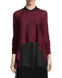 Eileen Fisher | Red Fisher Project Merino Cropped Top | Lyst