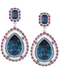 Swarovski - Blue Darling Pavé Teardrop Earrings - Lyst
