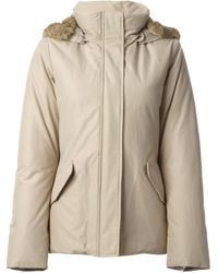 Woolrich | Natural Rabbit Fur Trimmed Parka | Lyst