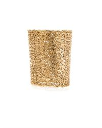 Aurelie Bidermann | Metallic Gold-Plated Vintage Lace Cuff | Lyst