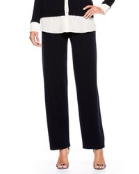 ESCADA | Blue Sidebutton Cashmere Pants Navy | Lyst
