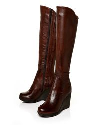 Moda In Pelle | Brown Geraldina High Casual Long Boots | Lyst