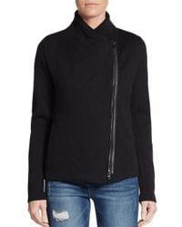 Vince   Black Woolen Long Sleeve Sweater   Lyst
