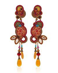 Dori Csengeri Purple Phoenix Earrings