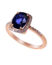 Effy | Blue 14Kt Sapphire And Diamond Ring | Lyst