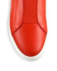Versace Red First Idol Leather High-top Sneakers for men
