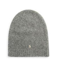 Polo Ralph Lauren | Gray Plush Alpaca Knit Beanie | Lyst