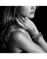 David Yurman - Metallic Ninerow Chain Bracelet with Pearls - Lyst