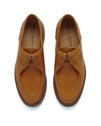 Yuketen Brown X Heschung Men's Verbier Leather Shoes for men