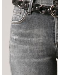 Citizens of Humanity - Gray 'Rocket' Distressed Skinny Jeans - Lyst